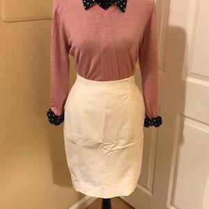 H&M white pencil skirt